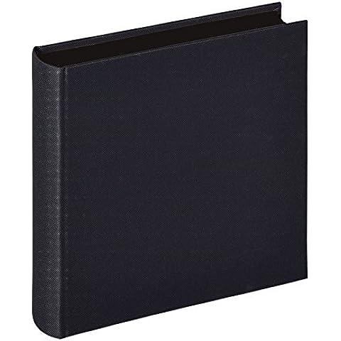 Walther Design FA-223-B álbum de fotos Lino, 26 x 25 cm, 60 páginas negras, con lino, negro