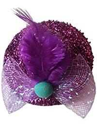 Viva Fashions Hat Style Hair Clip (Purple)