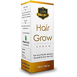 Prime Herbals Hair Grow Serum Natural Organic Extracts For Hair Growth, Premature Baldness, Hair fall Control & Dandruff
