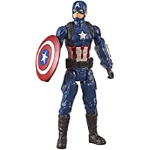 "Marvel Avengers: Endgame Titan Hero Series Captain America 12""-Scale Super Hero Action Figure Toy with Titan Hero Power Fx Port"