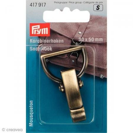 Prym 417917 - Karabinerhaken 30 mm altmessing gebürstet - 30 Großhandel Handtaschen