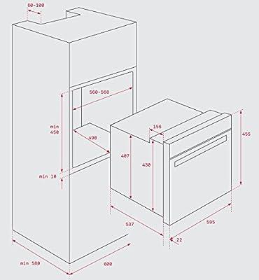 Teka HSC 635 Eléctrico 44L 2615W A+ Negro, Acero inoxidable - Horno (Pequeño, Electric oven, 44 L, 2615 W, 44 L, 2500 W)