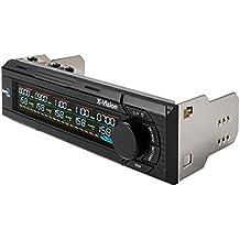 Aerocool XVISION - control de ventiladores para PC (LCD, control de 5 ventiladores, 25 W por canal, retroiluminación 7 colores, USB 2.0/3.0), gris