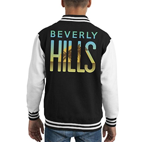 Coto7 Sunset Text Beverly Hills Kid's Varsity Jacket