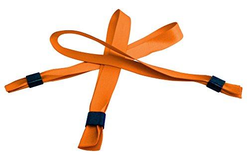 20 Stoffbänder mit Plastikverschluß - 15 x 350 mm - orange