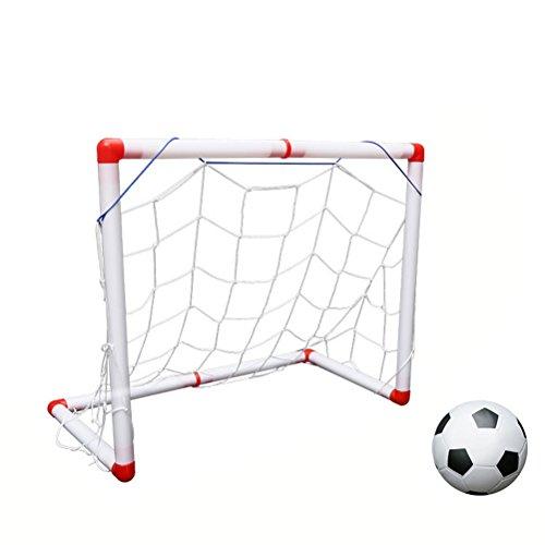 ußball Tor Portable Fußball Ziel Spielzeug mit Ball Net Luftpumpe für Kinder ()