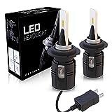 H7 LED Phare, Aaiwa LED Phares Voiture Ampoules 60W 8000LM Car Headlight Feux Avants Auto Blanc 6500K Tout en un kit de conversion, 2ans Garantie