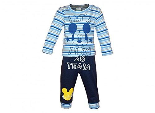 Jungen- / Baby- Mickey Mouse SPORT-ANZUG zweiteilig, LANGARM-SHIRT mit langer Hose, GRÖSSE 68, 74, 80, 86, 92, 98, 104, 110, Jogging-Anzug mit Sweat-Shirt und Hose, Freizeit-Anzug Größe 110