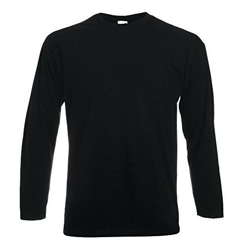 Fruit of the Loom - Langarm-Shirt 'Value Weight LS' / Black, L - Aus Langarm-shirt