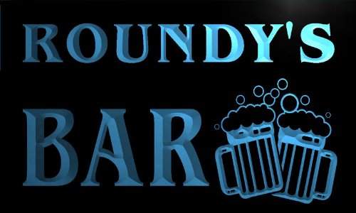 w012805-b-roundys-nom-accueil-bar-pub-beer-mugs-cheers-neon-sign-biere-enseigne-lumineuse