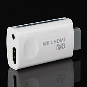 GOZAR Wii Hd Connection Hd Hdtv Ausgang Konverter Adapter