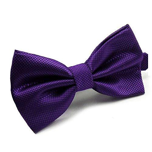 BomGuard Fliege für Herren lila I Männer Fliege für Hochzeit, Party oder edele Anlässe I Trendy Bow Tie I Fliege kariert