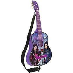 Los Descendientes de Disney- Disney, Los Descendientes-Guitarra clásica de 6 Cuerdas, 78 cm Largo, Madera (Lexibook K2000TD), Color Violet/Noir (