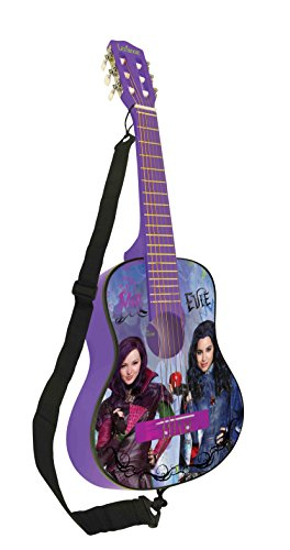Los Descendientes de Disney Los Descendientes Guitarra Clásica de 6 Cuerdas, Color Violet/Noir (Lexibook K2000TD)
