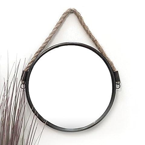 Ardisle Round Nautical Port Hole Rope Bathroom Shaving Cosmetic Wall Mirror Large 34CM