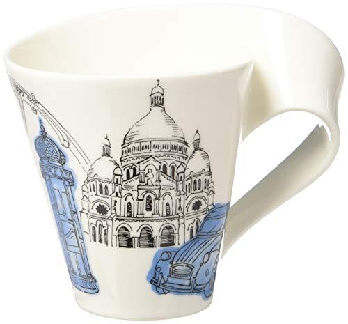 Villeroy & Boch Cities of the World Kaffeebecher Paris, 300 ml, Höhe: 11 cm, Premium Porzellan, Weiß/Bunt
