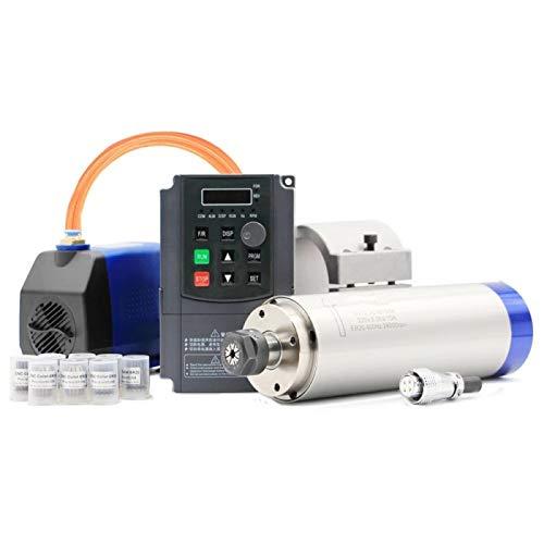 2.2kw ER20 wassergekühlte Spindel Kit Wasserkühlung Spindel & 2.2kw Inverter & 80mm Spindel Halterung & 75w Wasserpumpe Keramik Bär Lager -