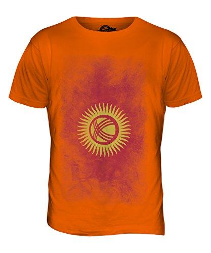 CandyMix Kirgisistan Verblichen Flagge Herren T Shirt Orange