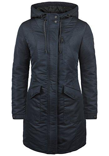 DESIRES Merle Damen Parka lange Jacke Winter-Mantel mit Kapuze aus hochwertiger und regenabweisender Materialqualität, Größe:XXL, Farbe:Insignia Blue (1991)