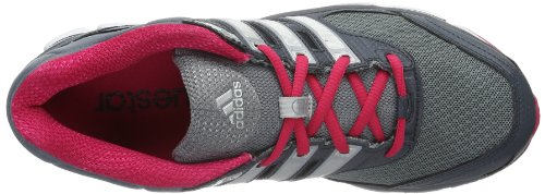adidas Questar Cushion 2, Chaussures de running femme Gris - Grau (Dark Onix / Metallic Silver / Vivid Berry S14)