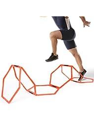 Sportneer® 6 PCS Hexagonales Bagues d'entraînement de vitesse et d'agilité Aide à la formation de Tennis Soccer Football Basketball , BONUS un Sac de Transport