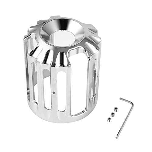 Componenti per stampi olio in metallo CNC Coperchio filtro olio Macchina Griglia olio Billet Sportster 882 1200 Xl - Argento