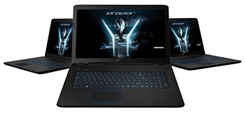 MEDION ERAZER P7648 MD 99980 439 cm 173 Zoll mattes whole HD Diplay Notebook Intel primary i7 7500U 16GB RAM 1TB HDD 256GB SSD NVIDIA GeForce GTX 950M DVD Win 10 dwelling schwarz Notebooks