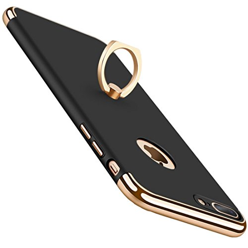 iPhone 7 Plus Hülle Caler® hardcase PC 3in1 mit Ring Halter Ultra Slim 360 Grad Schutz Anti Drop stoßfest Harte Schutzhülle cover für iphone 7 Plus 5,5 Zoll (4)