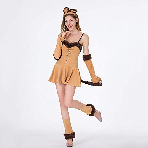 PIN Halloween Kostüme Damen Halloween Queen Outfit Hexe Outfit Katze Ladies Party Night Shop Performance Kostüm,M