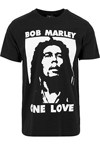 Mister Tee Herren Bob Marley One Love T-Shirts, Black, L -