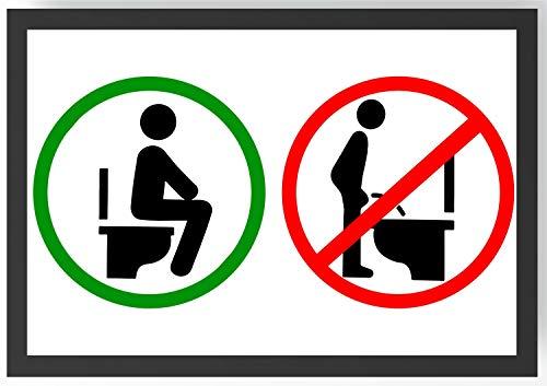Hinsetzen! WC Schild Kunstdruck Poster -ungerahmt- Bild DIN A4 A3 K0271 Größe A4 (Auflösung Wc-papier)