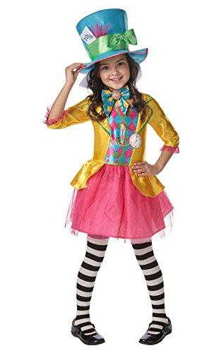 Rubie's Offizielles Mädchen Disney Alice im Wunderland Verrückter Hutmacher Kostüm–Größe L–7–8Jahre