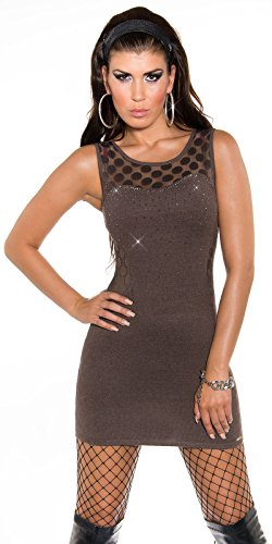 Sexy KouCla Feinstrickminikleid mit Strass Koucla by In-Stylefashion SKU 0000ISF822801 Braun