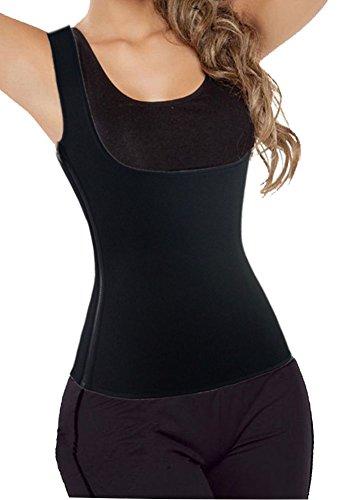DODOING Damen Frauen Sport Sweat Vest Hot Neopren Sauna Tank Top Weste Abnehmen Taillen Trainer Cincher Körper Former Bodysuit für Gewicht Verlust Mit Zipper (Körper-former-weste)