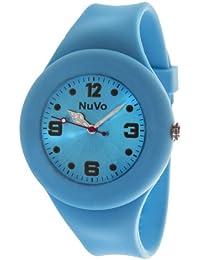 NuVo - NU13H18 - Montre Mixte détachable du bracelet  - Cadran Bleu - Bracelet Silicone Bleu changeable