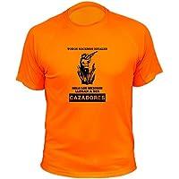 Camisetas de caza, Cazador, Todos nacemos iguales solo los mejores llegan a ser cazadores (30138, Naranja, 3a)