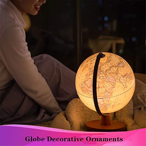 XHJZ-W Beleuchtet Weltkugel für Kinder mit Stand - Integrierte LED-Licht beleuchtet für Nachtsicht - Easy-Read Labels der Kontinente, Länder & Capitals