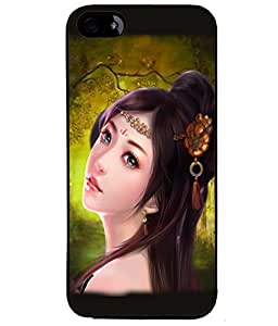 Fuson Cute Girl Back Case Cover for APPLE IPHONE 4S - D3630