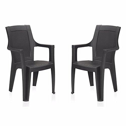 Nilkamal Plastic Premium Chair Set of 2 ( Brown)
