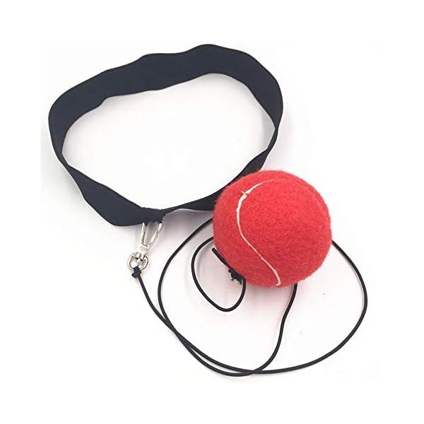 Eubi E302 Elasticity Head Band Wearing Boxing Ball Training Quick Punching (Rojo) 2