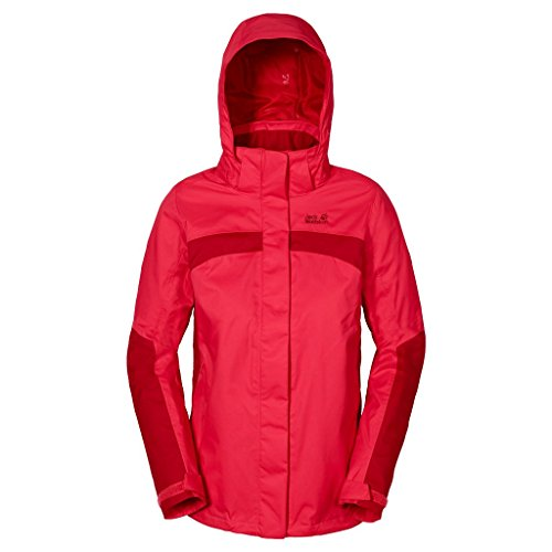 Jack Wolfskin Topaz II Veste imperméable pour femme Rot (Hibiscus Red)