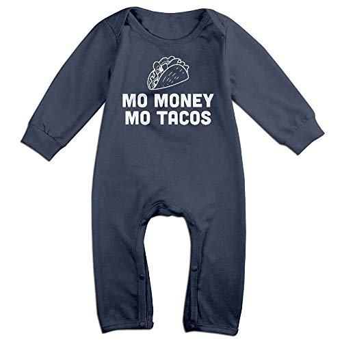 Mo Onesies (Mo Money Mo Tacos Long Sleeve Baby Romper Bodysuit Outfits Clothes)