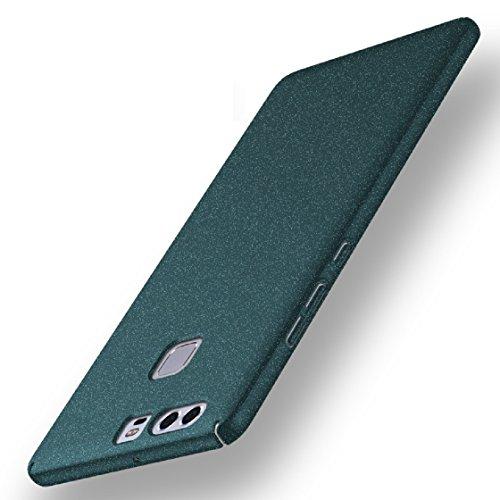 Bllosem Huawei P9 Plus Hülle Neu High Quality Ultra Slim Sand Rock Exquisite reale Haut Gefühl Ganzkörper Schutzhülle Hülle für Huawei P9 Plus Hülle Grüne