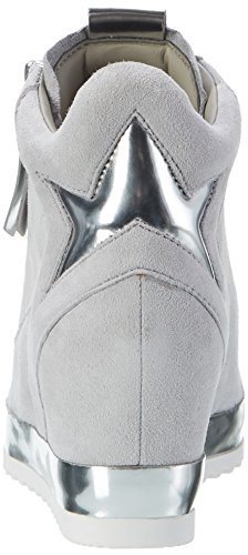Gabor Comfort, Sneakers Hautes Femme Gris (light grey 40)