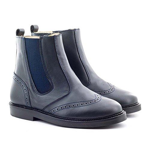 Boni Clovis - boots enfant en cuir bleu