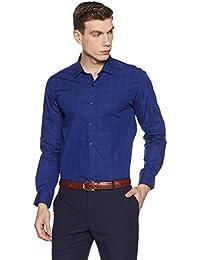 Diverse Men's Checkered Slim Fit Cotton Formal Shirt