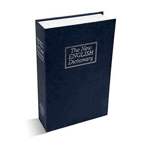 Moclever Buchsafe Buchtresor Buch Wörterbuch Diversion Geldkassette Bücher Tresor Sicherheitsbox mit 2 Schlüsseln für Home Office Shop, Blau