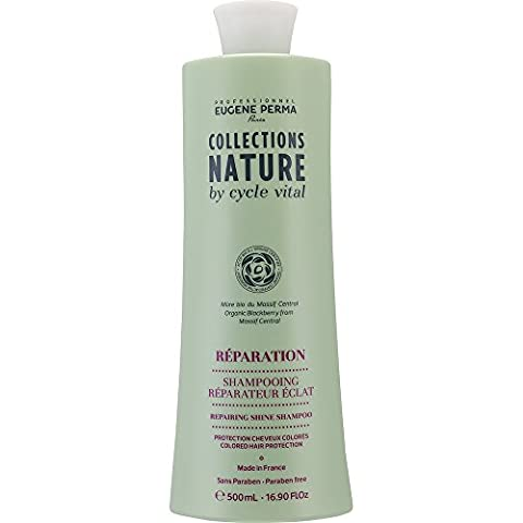 EUGENE PERMA Professionnel Shampooing Réparateur Eclat 500 ml Collections Nature by Cycle Vital