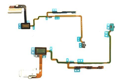 Ipod Flex Nano (Kopfhörerbuchse Audio für iPod Nano 7 7G Flex Schalter Button Earphone Jack weiß)