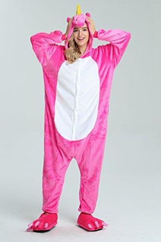 iLoveSIA Adulte Unisexe Ensemble de Pyjama motif animaux Rose Pegasus